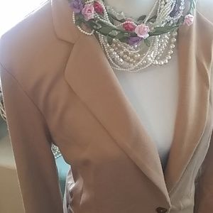 Soft carmel color, one button blazer by Forever 21